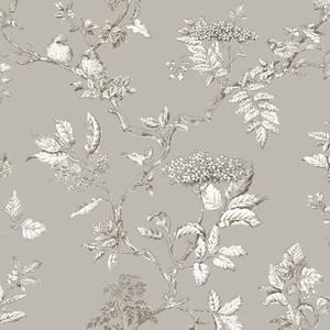 Laura Ashley Elderwood Steel Wallpaper