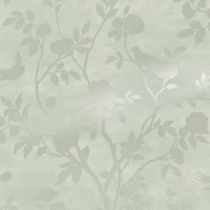 Laura Ashley Eglantine Silhouette Eau de Nil Wallpaper