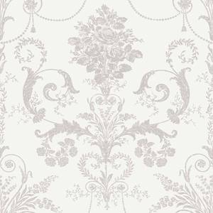 Laura Ashley Josette Dove Grey/White Wallpaper