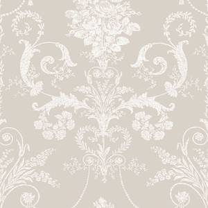 Laura Ashley Josette White/Dove Grey Wallpaper