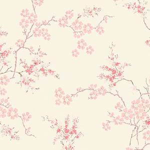 Laura Ashley Oriental Blossom Blush Wallpaper