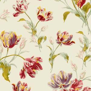 Laura Ashley Gosford Cranberry Wallpaper