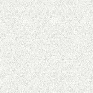 Laura Ashley Annecy Paintable White Wallpaper