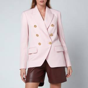 Balmain Women's 6 Button Grain De Poudre Jacket - Rose Pale