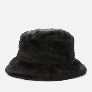 Stand Studio Women's Wera Faux Fur Bucket Hat - Black