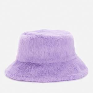 Stand Studio Women's Wera Faux Fur Bucket Hat - Topaz Purple
