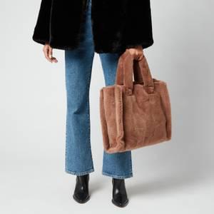 Stand Studio Women's Lolita Faux Fur Velvety - Taupe