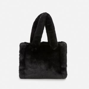 Stand Studio Women's Liz Faux Fur Velvety - Black