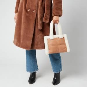 Stand Studio Women's Liz Mini Quilt Bag - Beige/White