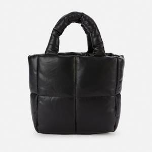Stand Studio Women's Rosanne Faux Leather Puffy Bag - Black