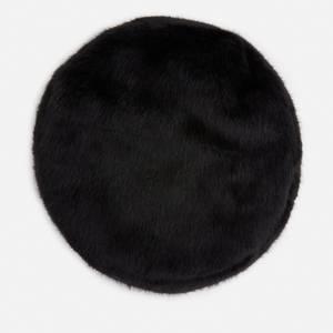 Stand Studio Women's Freja Faux Fur Beret - Black