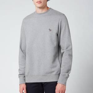 PS Paul Smith Men's Regular Fit Zebra Badge Sweatshirt - Grey Melange