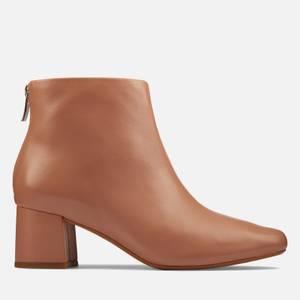 Clarks Women's Sheer 55 Zip Leather Heeled Ankle Boots - Praline