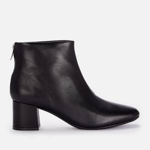Clarks Women's Sheer 55 Zip Leather Heeled Ankle Boots - Black