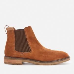 Clarks Men's Clarkdale Hall Suede Chelsea Boots - Cognac