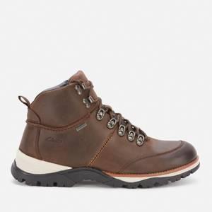 Clarks Men's Topton Pine Goretex Hiking Style Boots - Dark Brown
