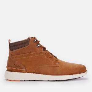 Clarks Men's Larvik Mid Leather Chukka Boots - Dark Tan
