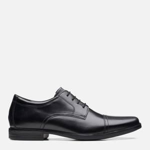 Clarks Men's Howard Cap Leather Oxford Shoes - Black