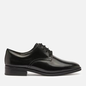 Clarks Women's Ria Leather Derby Shoes - Black