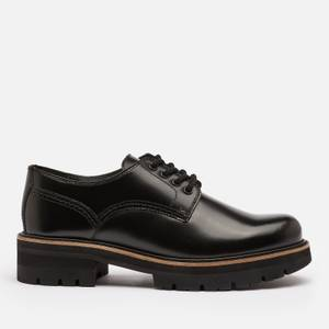 Clarks Women's Orianna Leather Chunky Derby Shoes - Black