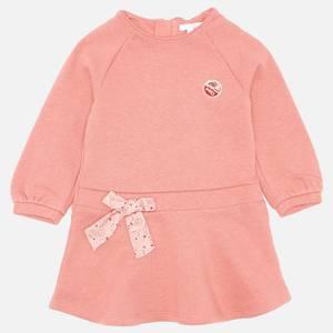 Chloé Girls' Long Sleeve Sweat Dress - Salmon