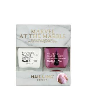 nails inc. Marvel at the Marble Duo