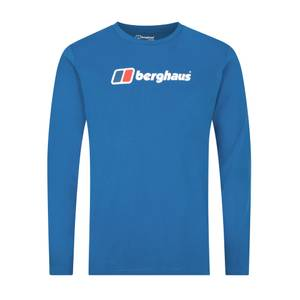Men's Berghaus Large Logo Long Sleeve T-Shirt - Blue