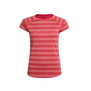 Women's Stripe Tech Tee 2.0 - Red