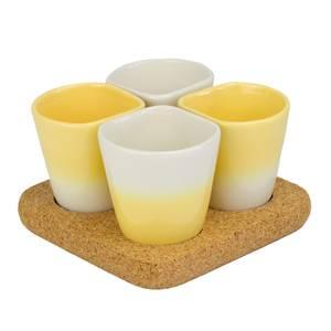 Dedal Copus Ceramic Cups - Banana Yellow Gradient