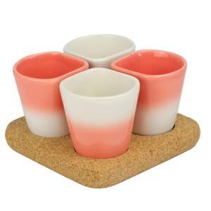 Dedal Copus Ceramic Cups - Coral Gradient