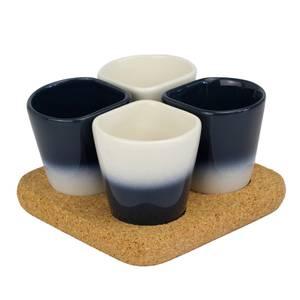 Dedal Copus Ceramic Cups - Blue Marine Gradient