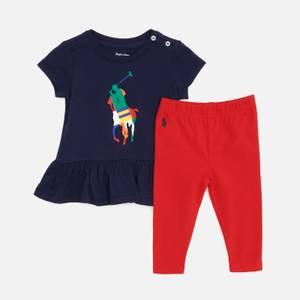 Polo Ralph Lauren Babys' Leggings And Top Set - Newport Navy