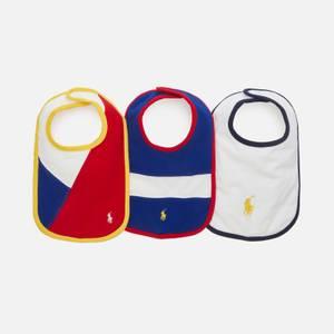 Polo Ralph Lauren Babys' 3Pack Bib Set - Multi - One Size