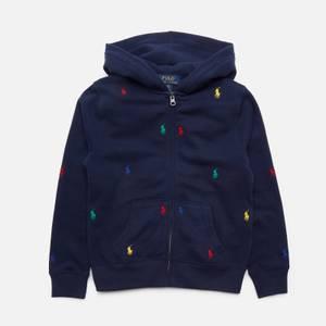 Polo Ralph Lauren Boys' Embroidered Logo Zip Through Hoody - Newport Navy