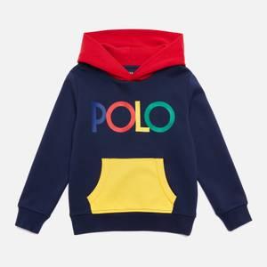 Polo Ralph Lauren Boys' Retro Logo Hoody - Newport Navy Multi
