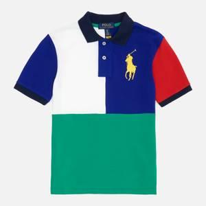 Polo Ralph Lauren Boys' Colour Block Polo Shirt - Active Royal Multi