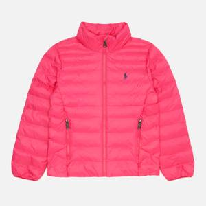 Polo Ralph Lauren Girls' Recycled Pack-A-Way Bomber Jacket - Sport Pink