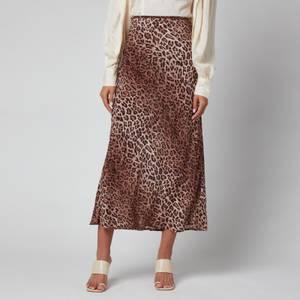 RIXO Women's Kelly Skirt - Leopard