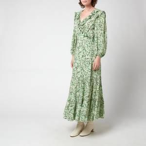 RIXO Women's Frida Dress - Summer Meadow Forest