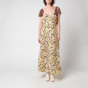 RIXO Women's Effie Midi Dress - Lilac Meadow Leopard Mix