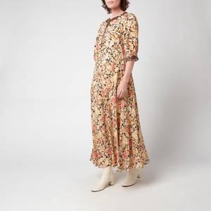 RIXO Women's Hanna Midi Dress - Brown Meadow Leopard Mix