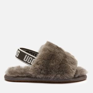 UGG Toddlers' Fluff Yeah Slide Slippers - Charcoal
