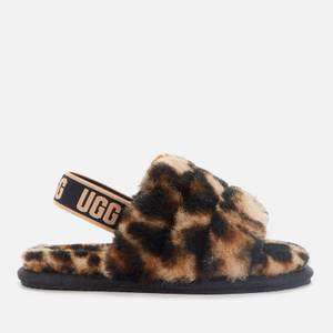 UGG Toddlers' Fluff Yeah Slide Panther Print Slippers - Butterscotch