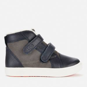 UGG Toddlers' RENNON II Velcro High Top Trainers - Charcoal