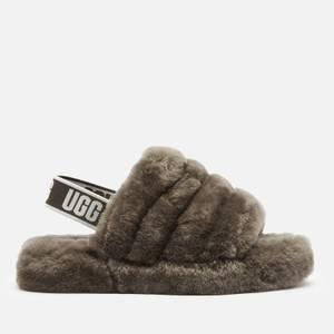 UGG Kids' Fluff Yeah Slide Slippers - Charcoal
