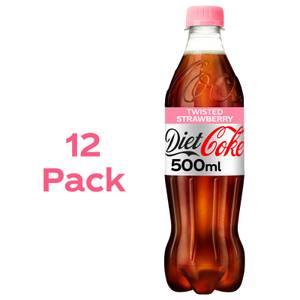 Diet Coke Strawberry 12 x 500ml