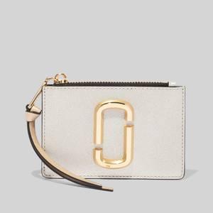 Marc Jacobs Women's Top Zip Multi Wallet - Platinum Multi