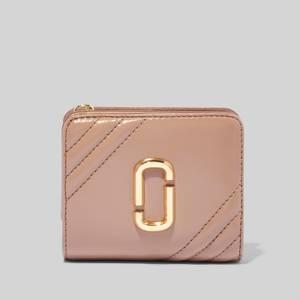 Marc Jacobs Women's Glamshot Mini Compact Wallet - Dusty Beige