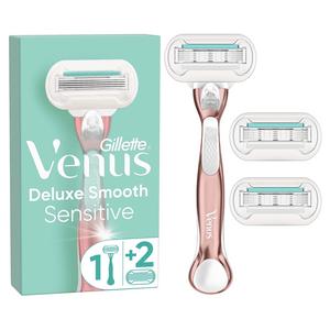 Venus Deluxe Smooth Sensitive Rose Gold Razor Starter Pack