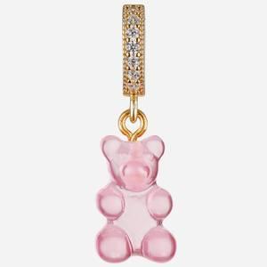 Crystal Haze Women's Jelly Nostalgia Bear Pave Pendant - Bubble Gum